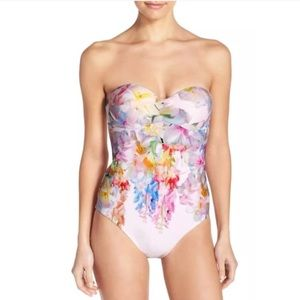 NWOT Ted Baker Layaya One Piece Floral Swimsuit